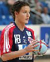 Linn-Kristin Riegelhut mit Ball - Nationalteam Norwegen