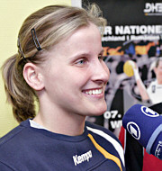 Nora Reiche im Interview - PK DHB in Riesa - 03.04.06