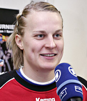 Nina Wörz im Interview - PK DHB in Riesa - 03.04.06