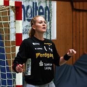 Chana Masson de Souza, brasilianische Nationaltorhüterin vom HC Leipzig
