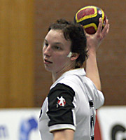 Angie Geschke. NED - GER, 4-Nationen-Turnier, Riesa 2007<br>