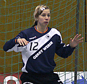 Katja Schülke. NED - GER, 4-Nationen-Turnier, Riesa 2007<br />