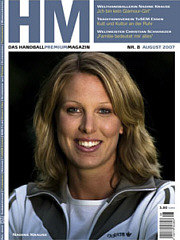 Nadine Krause - Cover handball-magazin 08/07