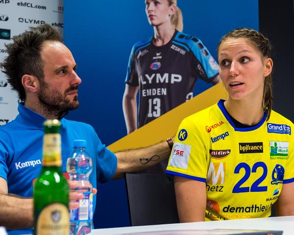 Xenia Smits mit Trainer Emmanuel Mayonnade
