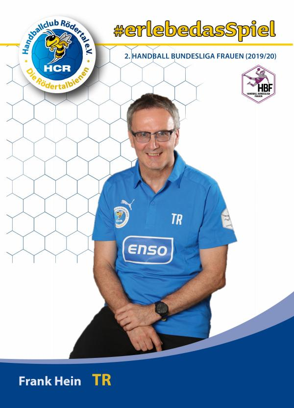 Co-Trainer Frank Hein - HC Rödertal 2019/20